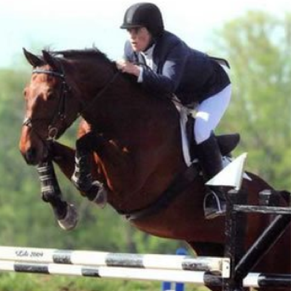 This is a horse named Corelli at a grand prix in TN